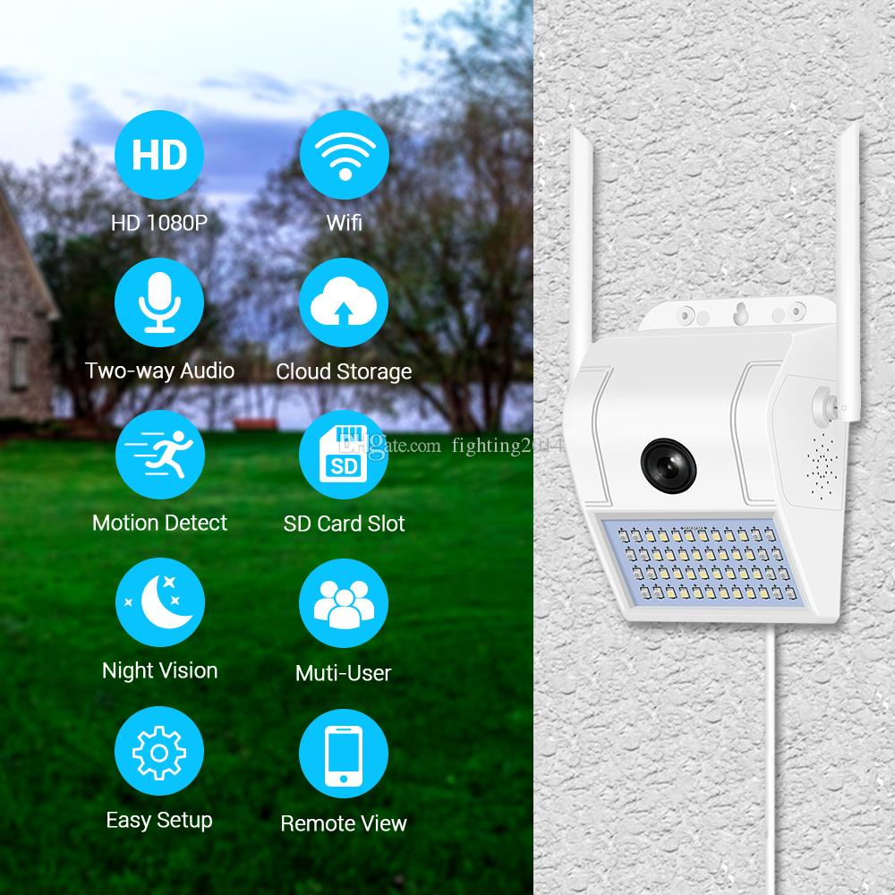 telecamera IP lampada 2MP HD WIFI parete impermeabile telecamera a infrarossi di visione notturna di sicurezza domestica a distanza telecamera di sorveglianza TVCC wireless V380