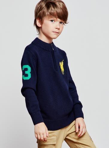 الاطفال أزياء العلامة التجارية ملابس الطفل سترة عالية الجودة الربيع / الخريف مدرسة بنين الأطفال لعبة البولو كنزة لباس خارجي