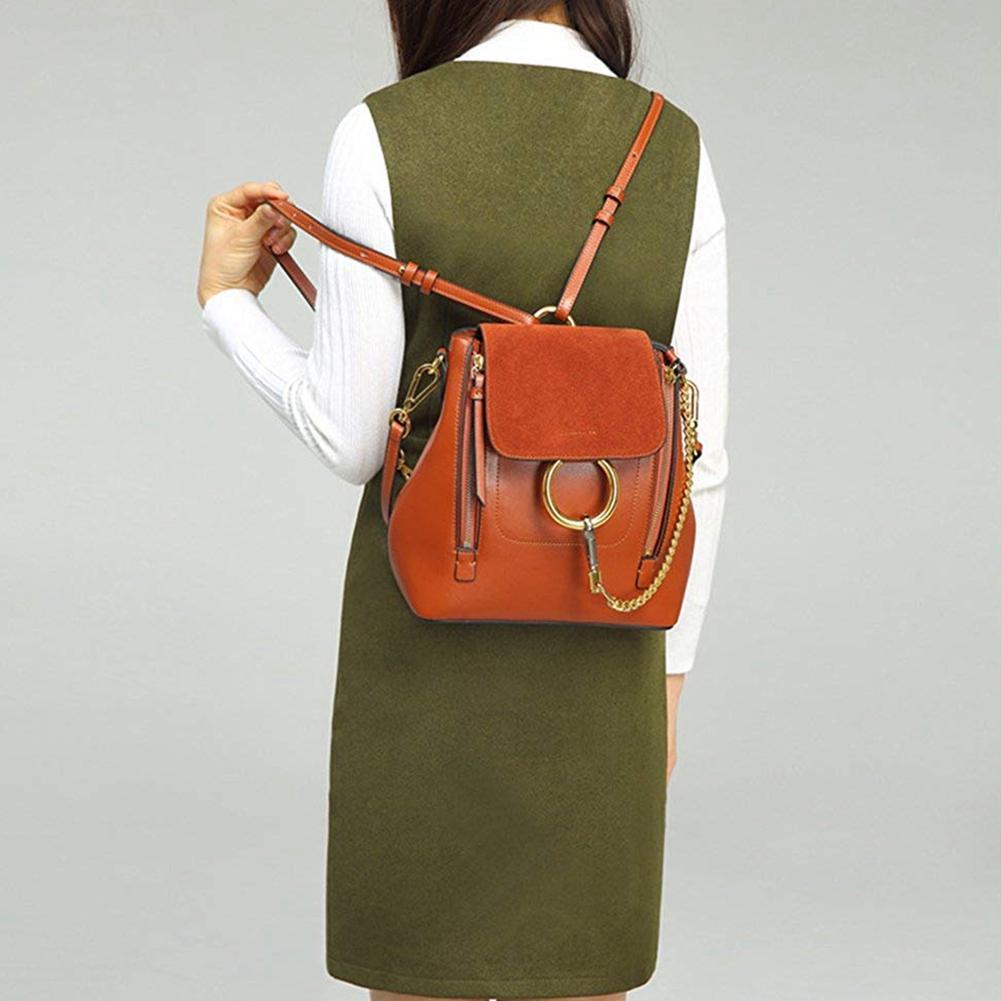 Femmes besace en cuir PU Sac à dos en cuir Cross Body cadeau sac à usage universel pour les filles