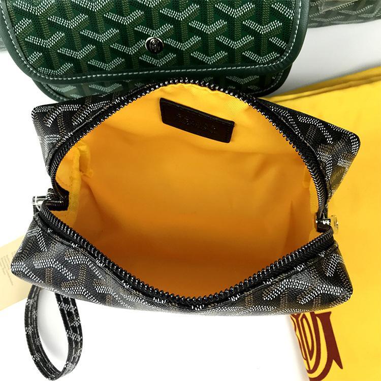 고야 새로운 패션 여성 프랑스 파리 스타일 디자이너 가죽 화장품 가방 GY 세면 용품 가방 지갑 키트 가방 클러치 파우치를 구성하는