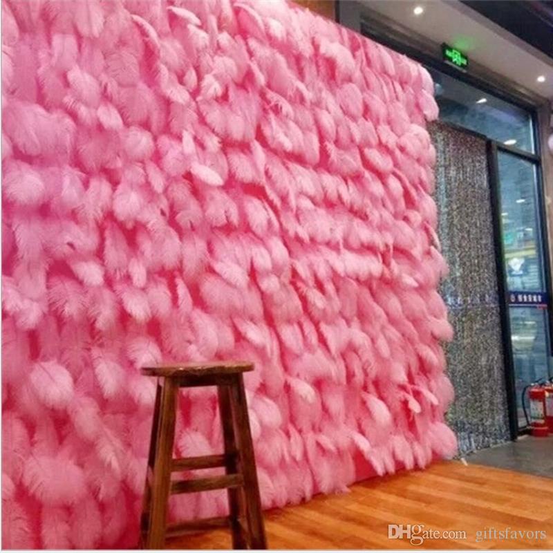 Devekuşu Tüy Süslemeleri Backdrops Parti Düğün Doğum Günü Fotoğraf Sahne Duvar Toptan Yıldönümü Malzemeleri 15-20 cm 100 adet Her Çanta