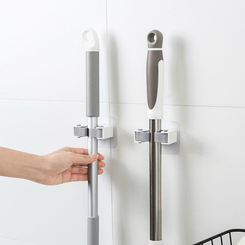 Ganchos Rails Japón Calidad Mop Traceless Baño Cuarto de baño Gancho Escune de la escoba Soporte de la abrazadera Ducha