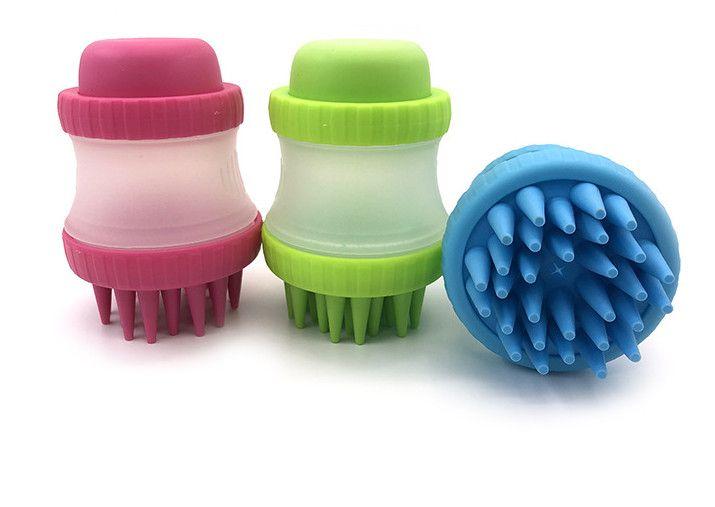 dernier modèle met le liquide de bain dans la bouteille, serre dehors, massages le bain avec du silicone, les chats animaux et brosses chiens