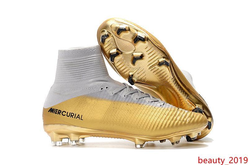 2020 Children White Gold CR7 Soccer