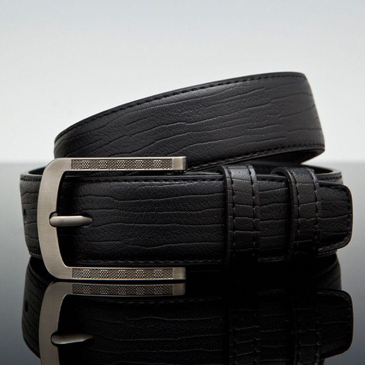 D015 New Fashion Mens Business Belts Ceinture pin Buckle Genuine Leather Belts For Men Waist Belt Free Shipping
