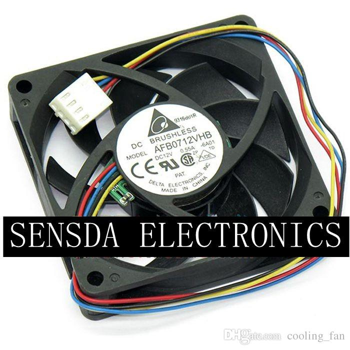 Delta AFB0712VHB 7015 70mm x 70mm x 15mm DC Brushless PWM Cooler Cooling Fan 12V 0.55A 4Wire 4Pin Connector