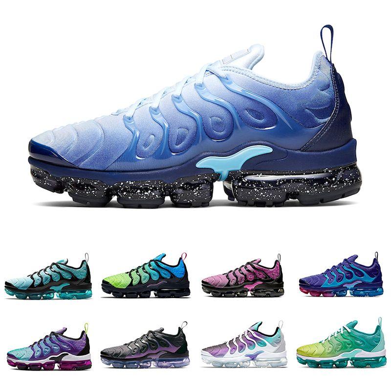 2020 neuen TN-Plus-Eis-Blau-Trainer Männer Aurora Green Grid Printed Aktiv Fuchsia Fury Hyper Violet Laufschuhe Sport Frauen Chaussures