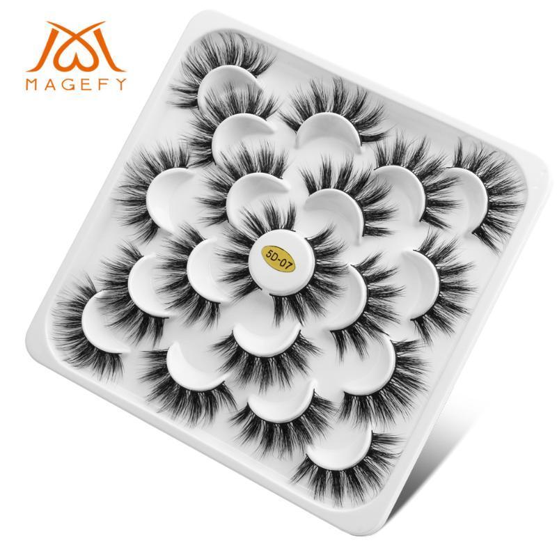 10/05 أزواج المنك 3D الرموش الرموش الطبيعية لفترة طويلة الرموش الصناعية حجم وهمية جلدة ماكياج رمش تمديد Maquiagem
