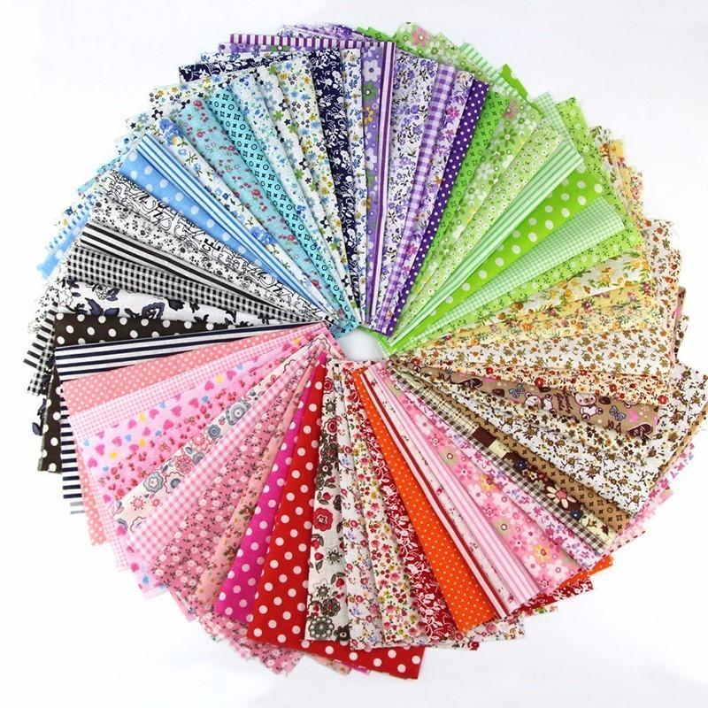 50 Pcs 10*10cm Cotton Fabrics Patchwork Handmade Charm Pack Patchwork Fabrics DIY Quilting Sewing Textile Material