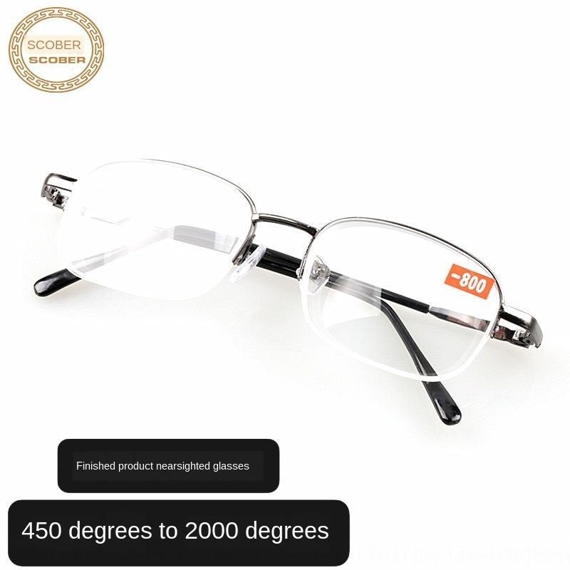 elaborados metálicos lentes de resina semi-marco estancan vasos altos de miopía Terminados los vidrios de lentes de resina semi-marco de metal se estancan alta miopía