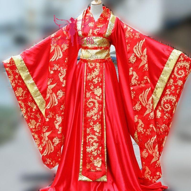 античное платье в 2018 году, Императорская наложница династии Тан, хвост Хвост Феи платье производительности Ханфу