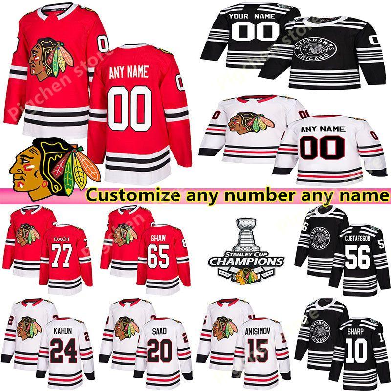 Individuelle Chicago Blackhawks Trikots 88 Patrick Kane 19 Toews 77 Kirby Dach 12 DeBrincat Chelios anpassen beliebige Anzahl beliebige Namen Hockey jers