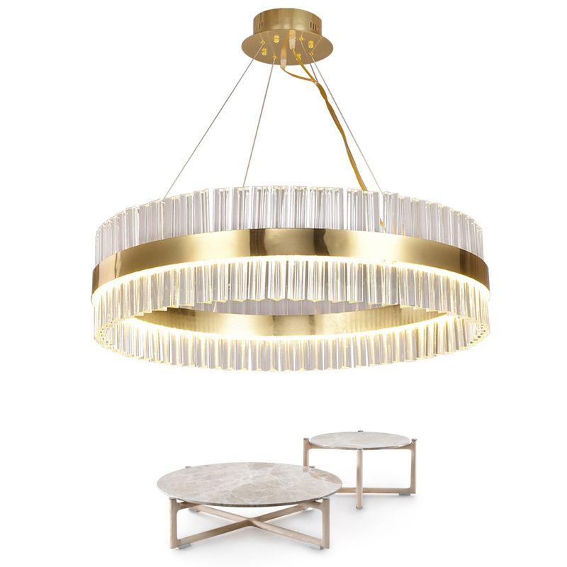 Ameican الذهبي كريستال الثريا الصمام الإبداعية الفاخرة فيلا مصباح السقف غرفة المعيشة مصباح جولة 40 سنتيمتر 60 سنتيمتر أضواء غرفة الطعام