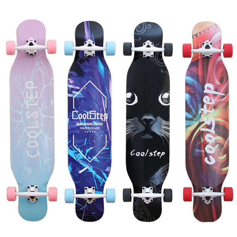 Bailar completa de descenso Longboard Skateboards adultos Freestyle Road la calle al por mayor del patín de Longboard del crucero de 4 Ruedas