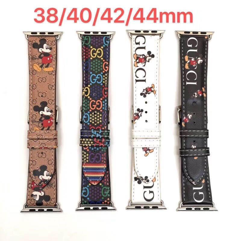 أزياء جلدية WATCHBANDS لشركة آبل حزام 42MM 38MM iwatch 2 3 4 نطاقات أعلى الأزياء حزام 42MM 44MM حزام من الجلد سوار الرياضة