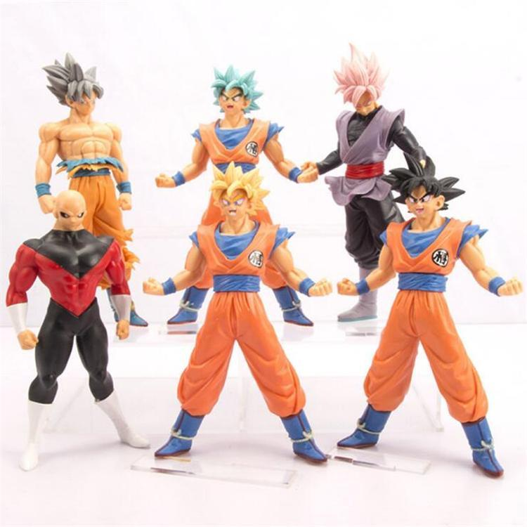 dragon ball action figures toys 6 pieces/lot anime dragon ball z goku action figure dolls kids boys birthday gifts kids toys ESS238
