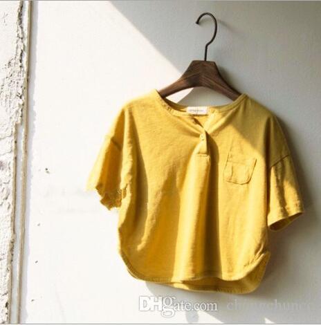2019 New Style Girls Boys T-Shirt Summer Short Sleeve Cotton Fashion Kids Top 2-7t