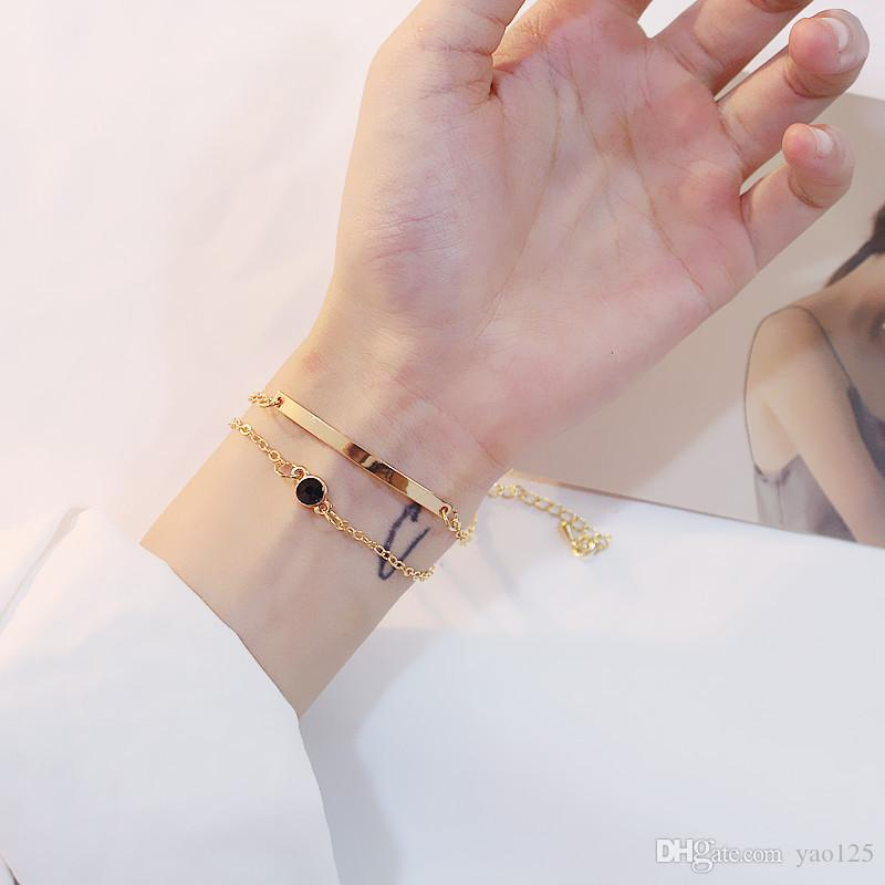 Temperamental simplicity double curved pipe bracelet bracelet headpiece jewelry birthday gift accessories for women