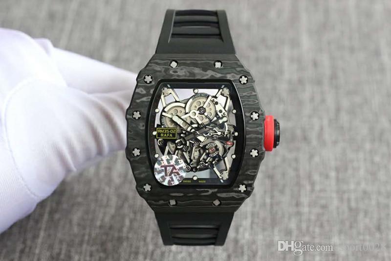 2020 Die hochwertigen Luxus Herrenuhren Die Kohlefaser So das Tourbillon Designer automatische Uhr montre de luxe reloj de Uhren lujo