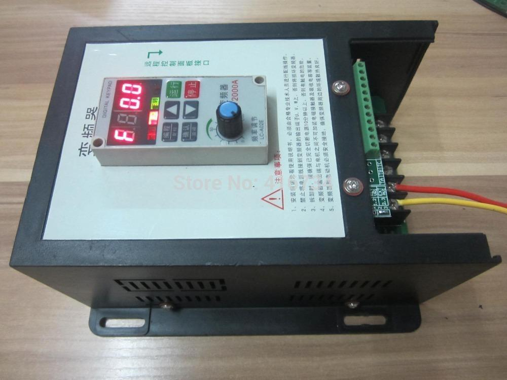 Freeshipping Hot Sale HengTai HT2000A used frequency converter 220V 0.75KW drive 380V AC Motor free