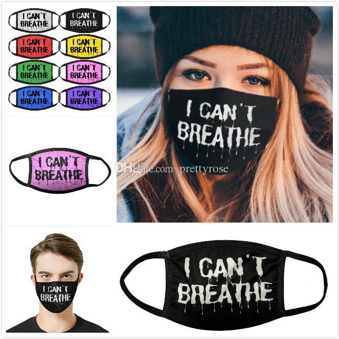No puedo respirar máscara máscaras 3D impresión de la cara de verano Moda Máscara de polvo Personalidad creatividad hombres y mujeres máscara diseñador