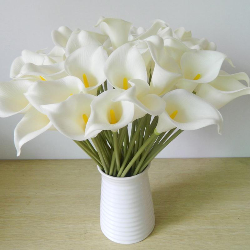 Decoração do casamento DES flor floral decorativa Mini Artificial Calla Lily Bouquet Para Artifical Flores do lírio do ramalhete para o casamento