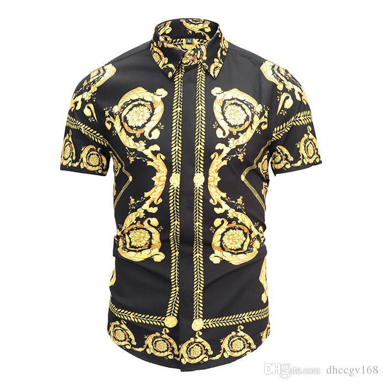 Бесплатная доставка мужская мода 3D печать рубашки мужчины с коротким рукавом футболки мужские отложным воротником рубашки тонкий повседневная женская футболка блузка 3D085