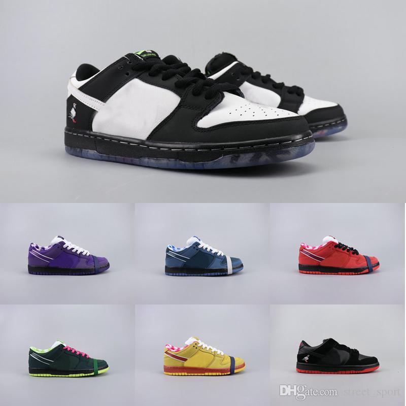 Designer Concepts x Sb Dunk Low PRO OG QS Running Shoes Women Mens Trainers Sneakers Blue Purple Lobster Dove Panda Staple Dunks Scarpe