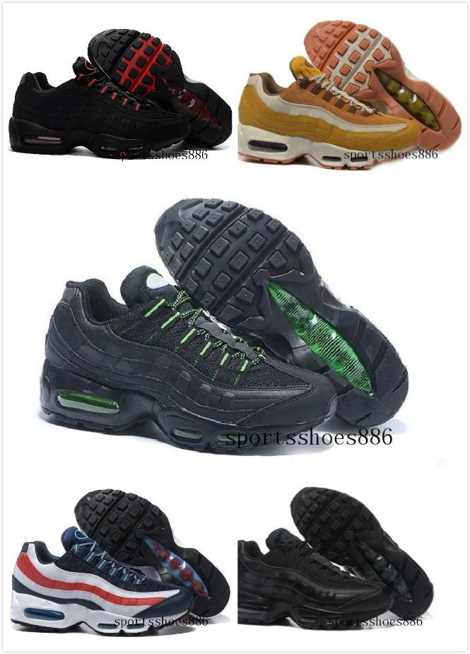 Klasik 95 OG Tripel Beyaz Siyah Erkek Kadın Koşu Ayakkabıları 95 Yastık M95 GS Otantik Spor 95 s Çizmeler Sneakers Boyutu 36-46