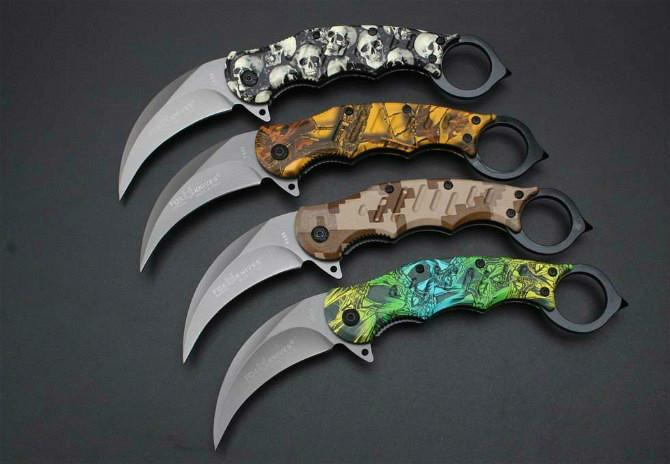 karambit FA33 claw karambit knife folding training hunting knife outdoor Camping survival pocket knife xmas gift Adker 1pcs freeshipping