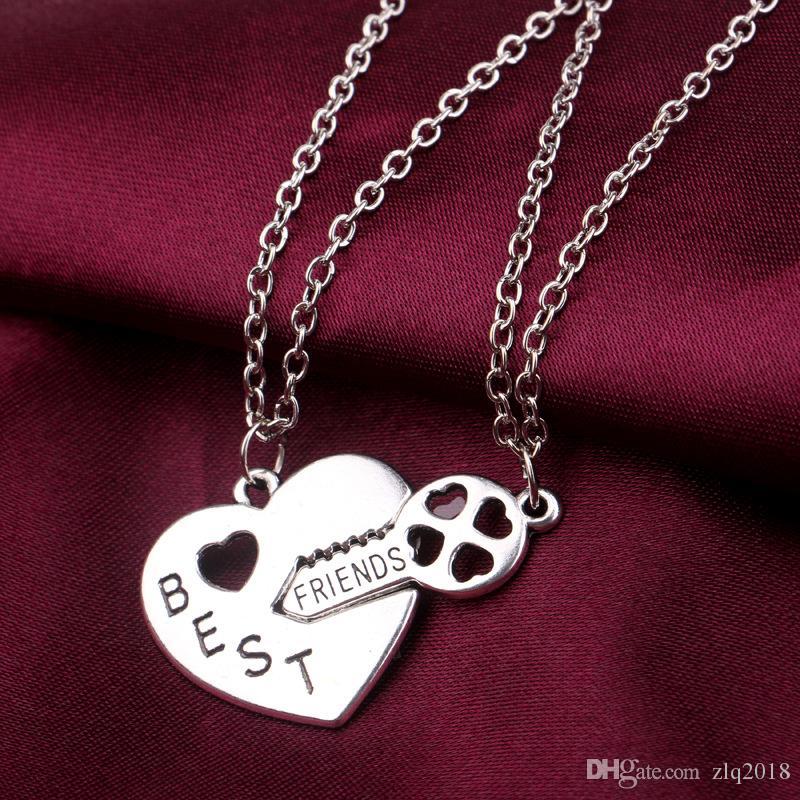 Freund-Halskettenfreundschaft der Mode-Jokerherzschlüsselhalskette des besten Freunds halskette wholsale freies Verschiffen