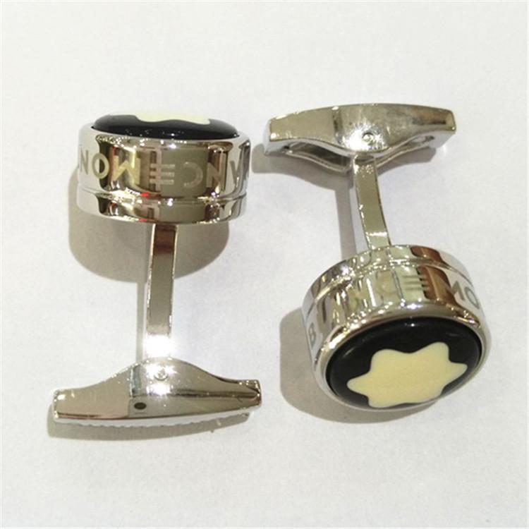 Divers boutons de manchette de luxe pour hommes Conception simple style français boutons de manchette forme ronde haute qualité cadeau de mariage marque de boutons de manchette ornements.