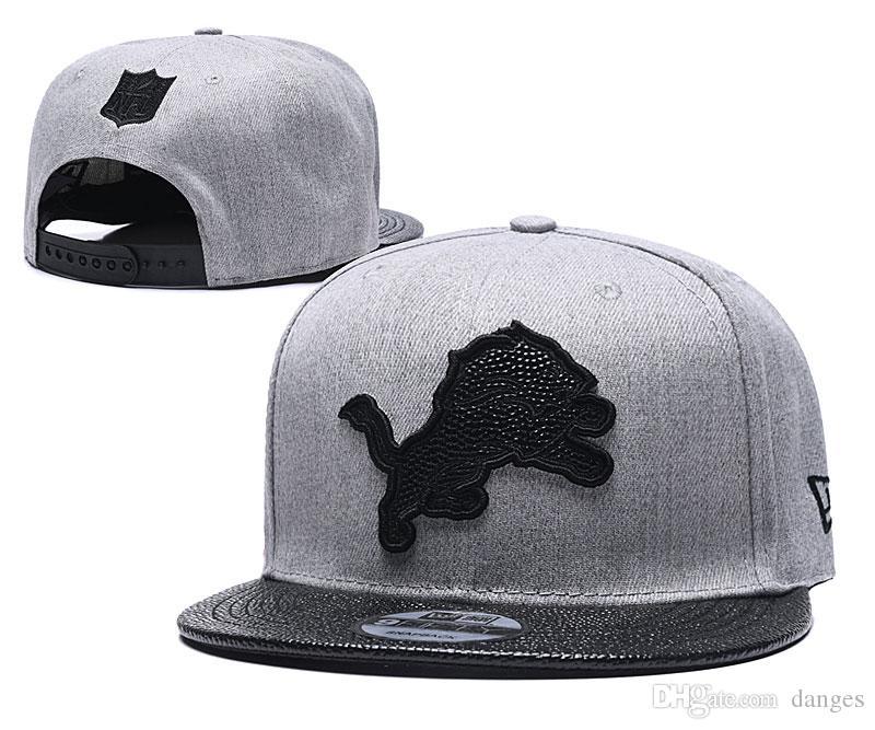 trasporto libero Nuovo Detroit Football snapback regolabile cappelli sportivi cappelli squadra di qualità cap Casquette osso da baseball