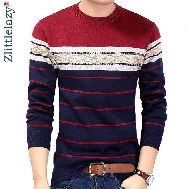 2019 моды повседневной одежды социальной фитнес бодибилдинг полосатых футболки мужчины футболка майка майка пуловер свитер Камиз V191031