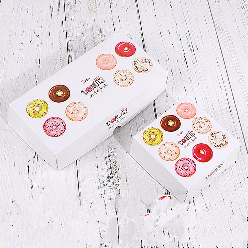25pcs Net red thick white paper boxes handmade diy baking packaging chocolate candy cake donuts box decoration small gift box