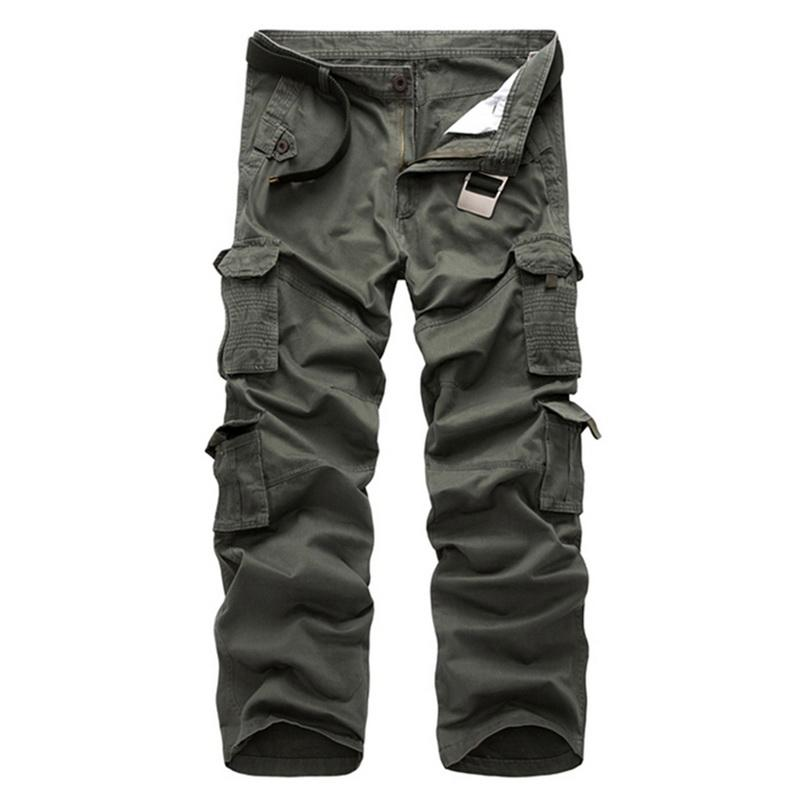 WENYUJH 2018 Men's  Multi-pockets Pants Outdoor Tactical Male Loose Trousers Hiking Camping Fishing Climbing Brand Pants