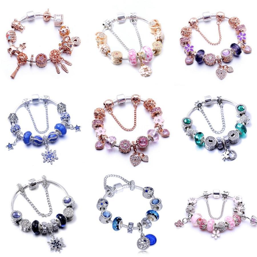 Strand Bracelets Douvei New Gold Diy Design Pave Cz Ball Charm Bracelet Men Women Braided Macrame Copper Beads Jewelry Gift For Men Wome#586