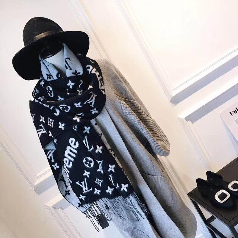 Designer Cashmere Wool Cotton Scarf Gold Silver Thread Woman Letter Printing Large square Scarves Shawl Wrap scarf 200*35cm without box