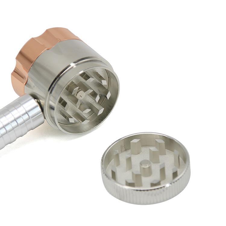 Шесть отверстий металла Grinder дымовоотвод мельница двухцелевые хорошее качество резаного табака курительные трубки Курительные принадлежности CCA11895 30pcs