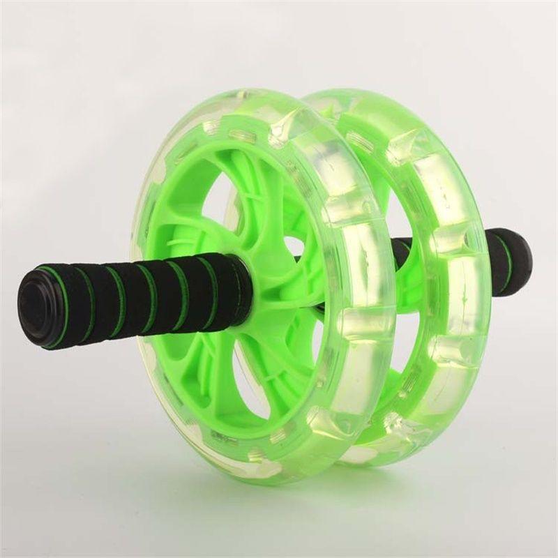 Diamètre 20cm Double roues ab mince roulements en acier allié abdomen Ab rouleau AB COASTER T200506