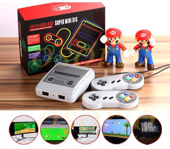 Hot HDMI HD Super Mini Classic SFC TV Video Game Console For Mini NES SNES 621