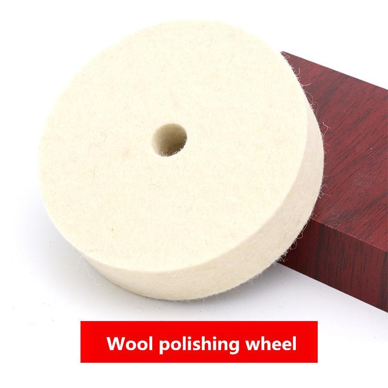 Disco 4 polegadas Lã Polimento Polimento rebolo disco pad para Car Polidor Acessórios Auto Polimento Polidor Pads