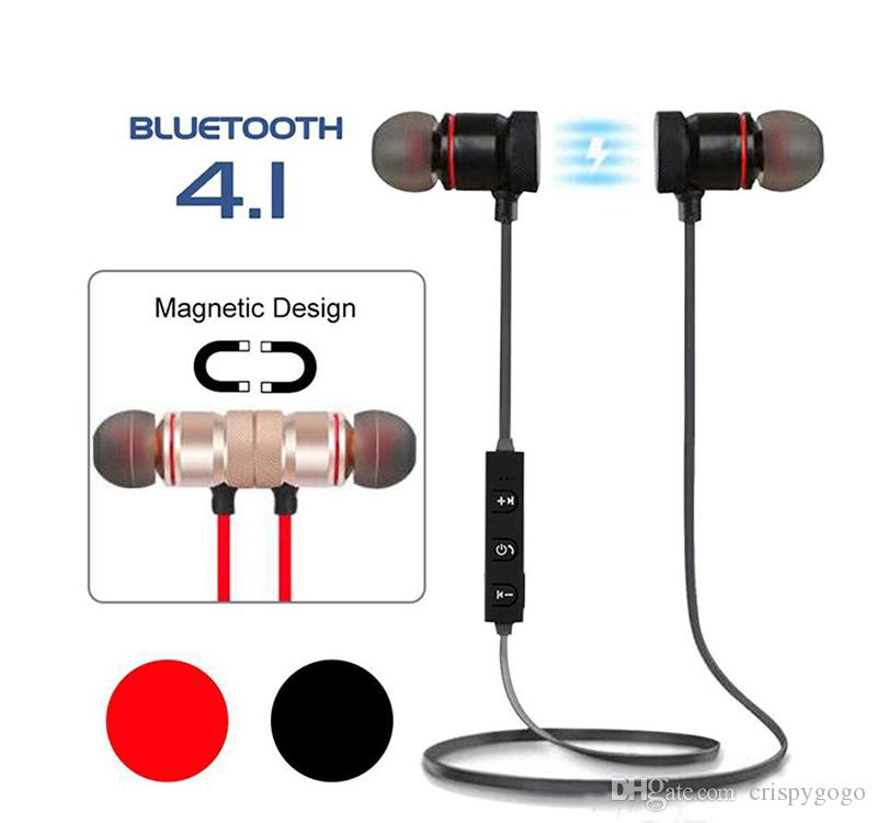 Magnetic Bluetooth Earphone Attraction IP65 Waterproof Sport Headphone 4.1 with Charging Cable Headset Build-in Mic Earphones With Package