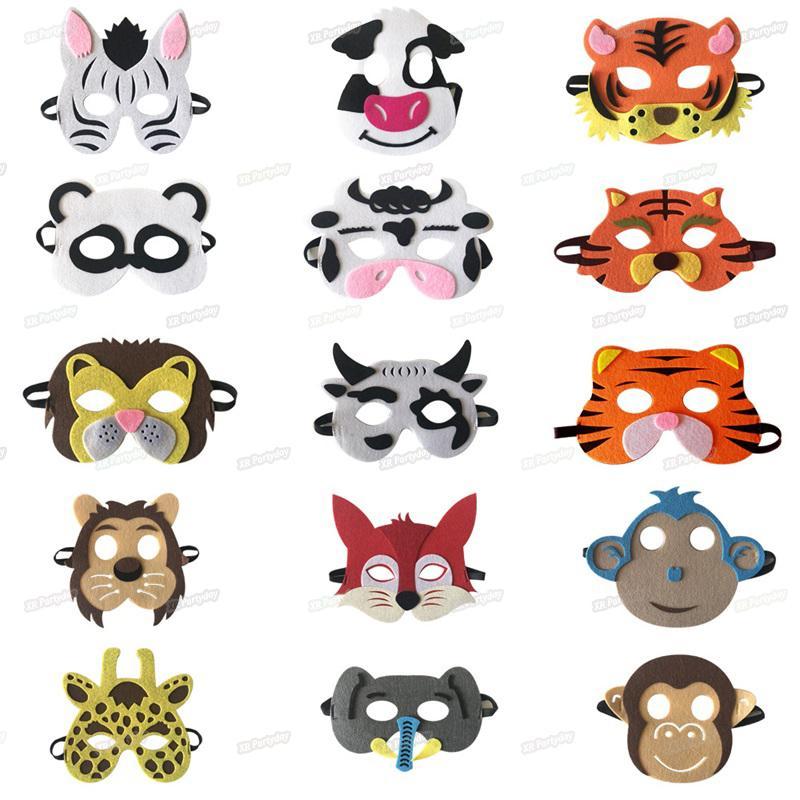 Sevimli Çocuk Yetişkin Karikatür Hayvan Göz Maskesi Süt Kurt Lion Cadılar doğum günü partisi Cosplay Kostüm Aksesuarları Maske