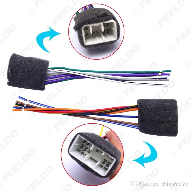 LEEWA Car CD Player Radio Audio Stereo Wiring Harness Adapter Plug for MAZDA 90-01 SKU#:2958