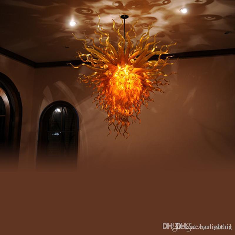 Top a soffitto in vetro soffiato Lampadario Modern Light Art Deco mano Murano Glass LED Lampade a sospensione per LivingHome Camera Indoor Decor