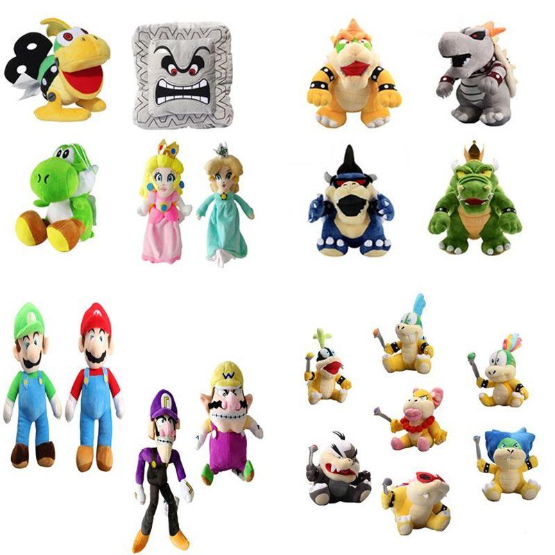 New arrival 100% Cotton Super Mar Bros Mar Luigi Peach Rosalina Bowser Koopa Yoshi Plush Doll Stuffed Animals Toy For Best Gifts NOMA021