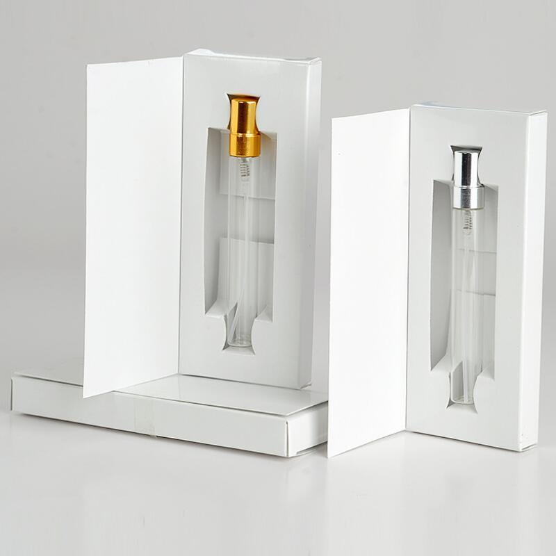 10ML frasco de perfume vazio personalizados caixas de papel Com Atomizador Perfume vazio Embalagem logotipo personalizado para LX9249 presente