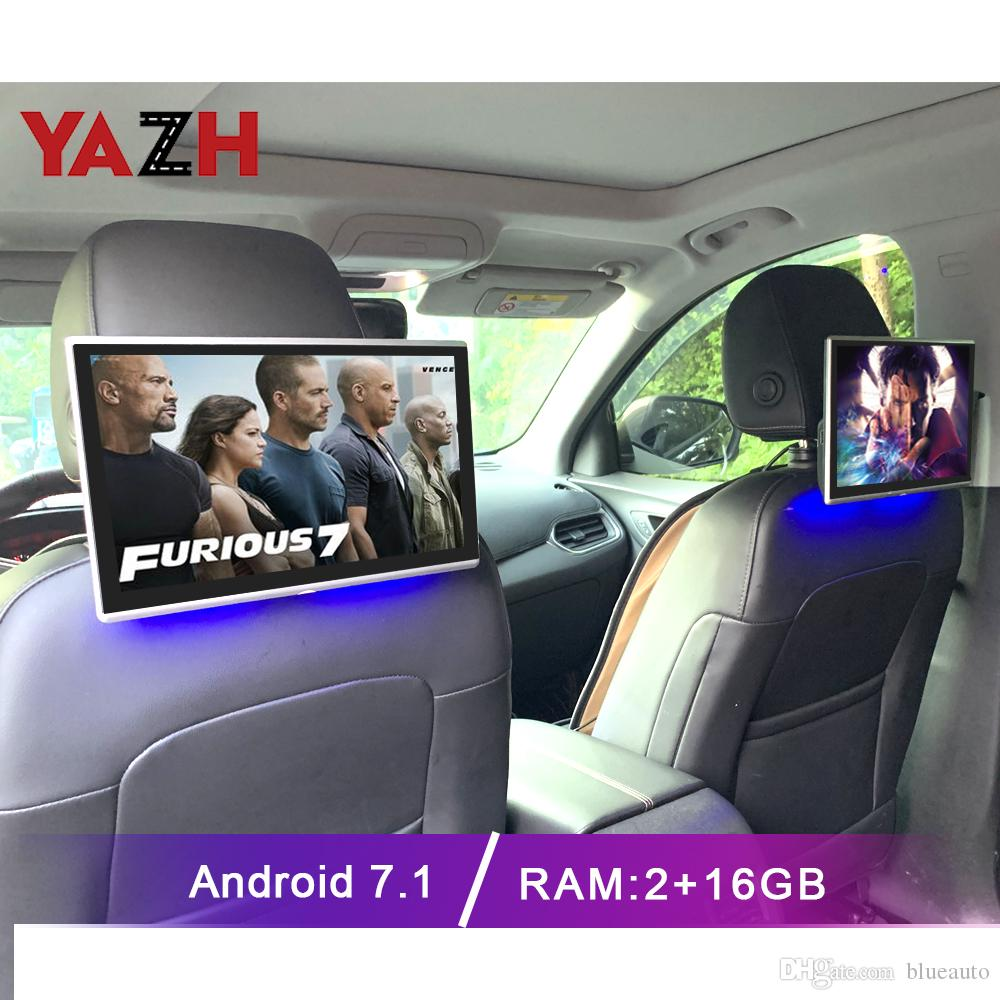 Android 7.1 11.6-дюймовый монитор подголовника автомобиля android с bluetooth aux fm-передатчик автомобиль bluetooth поддержка HDMI вход USB SIM-карта
