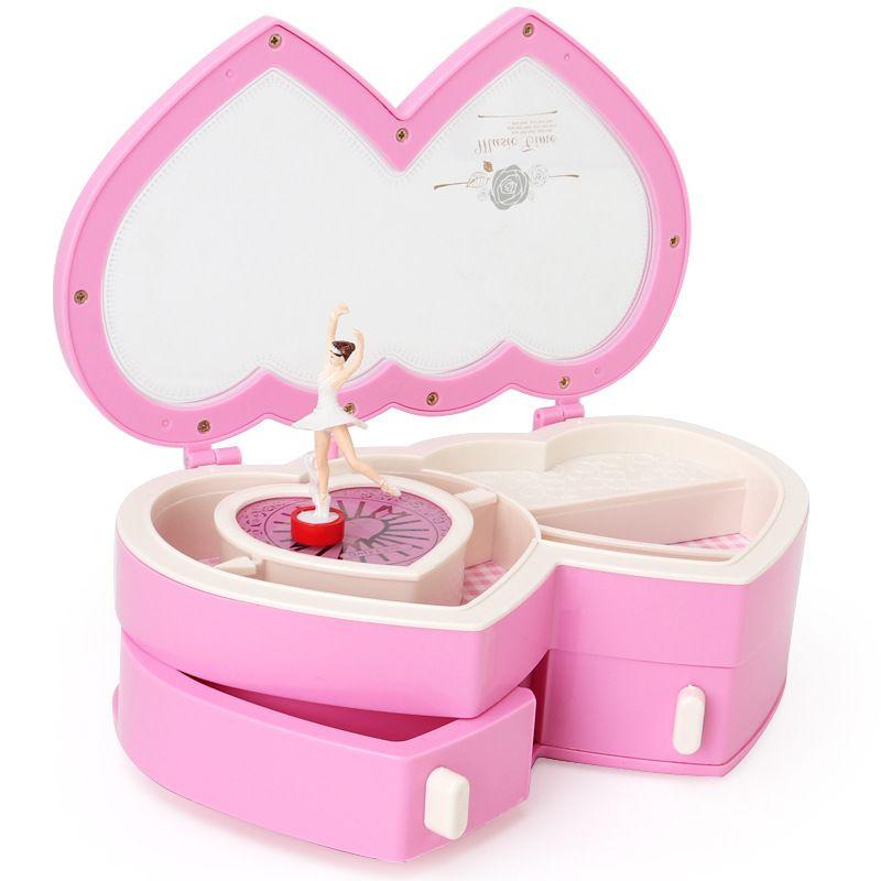 Балерина Музыкальная шкатулка для хранения ювелирных изделий чехол для маленьких девочек милая Музыкальная шкатулка для детей подарки